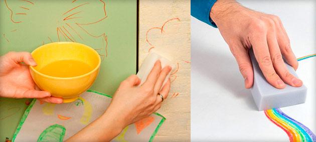 чистка покрашеной стены