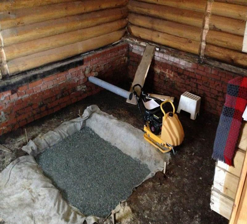 гравийно-песчаная подушка под фундамент