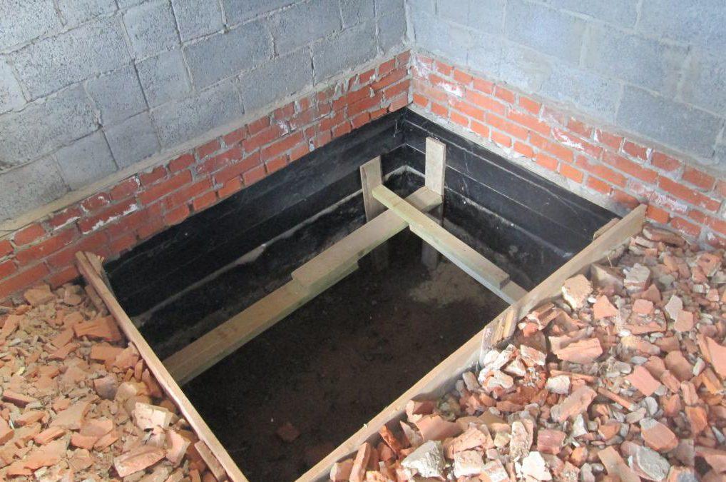 опалубка фундамента под камин