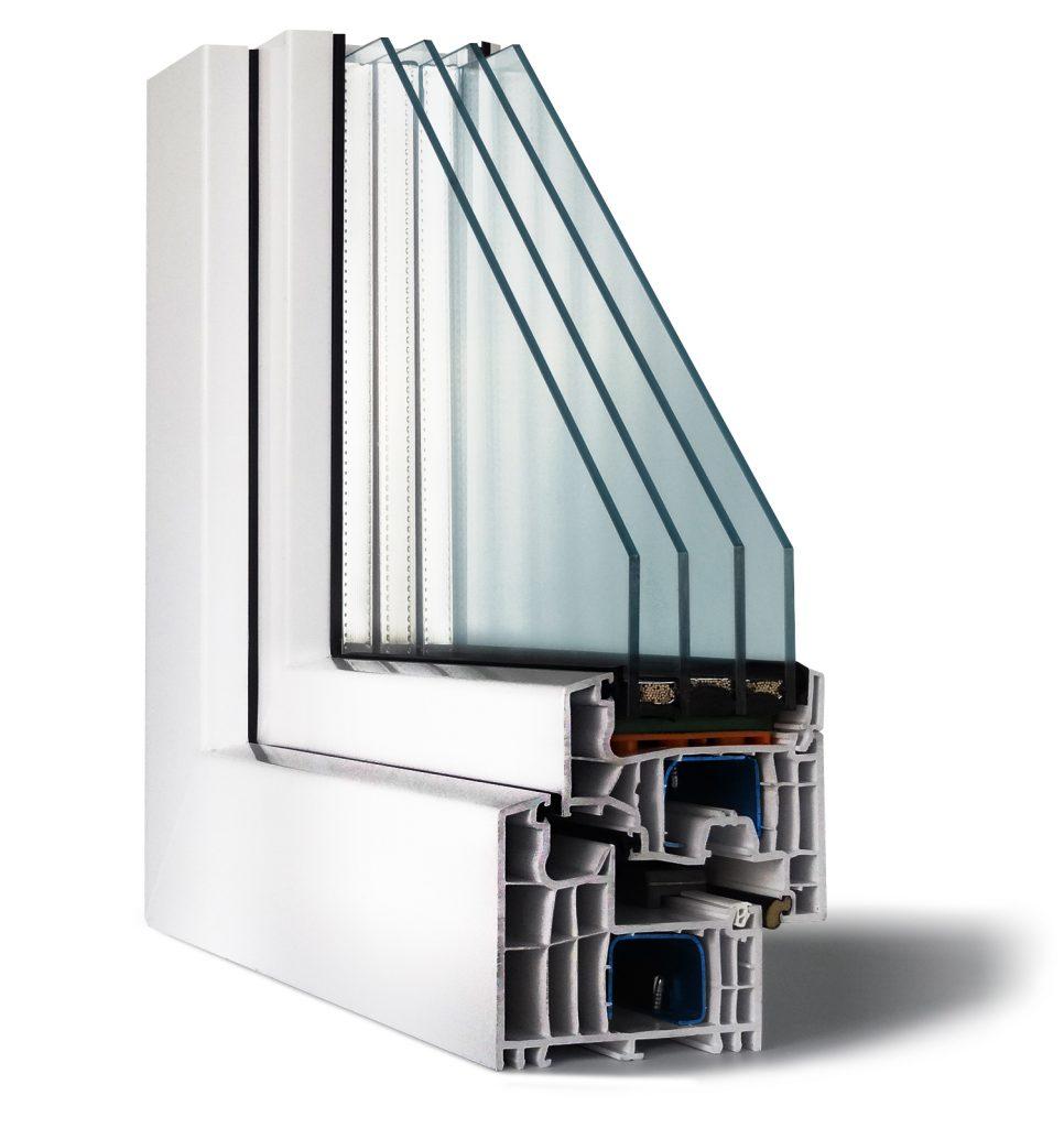 трехкамерное пластиковое окно