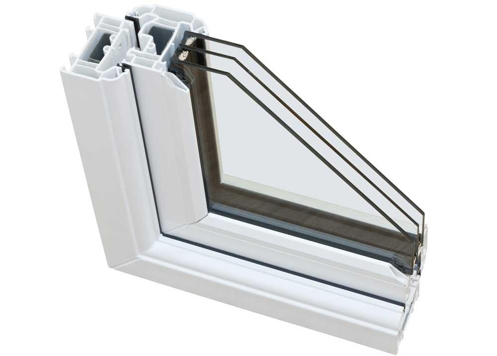 двухкамерное пластиковое окно