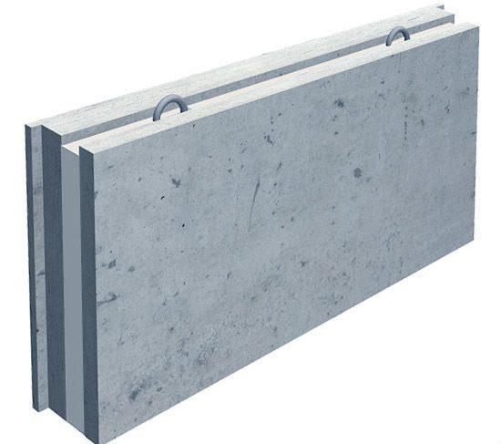бетонная плита трехслойная