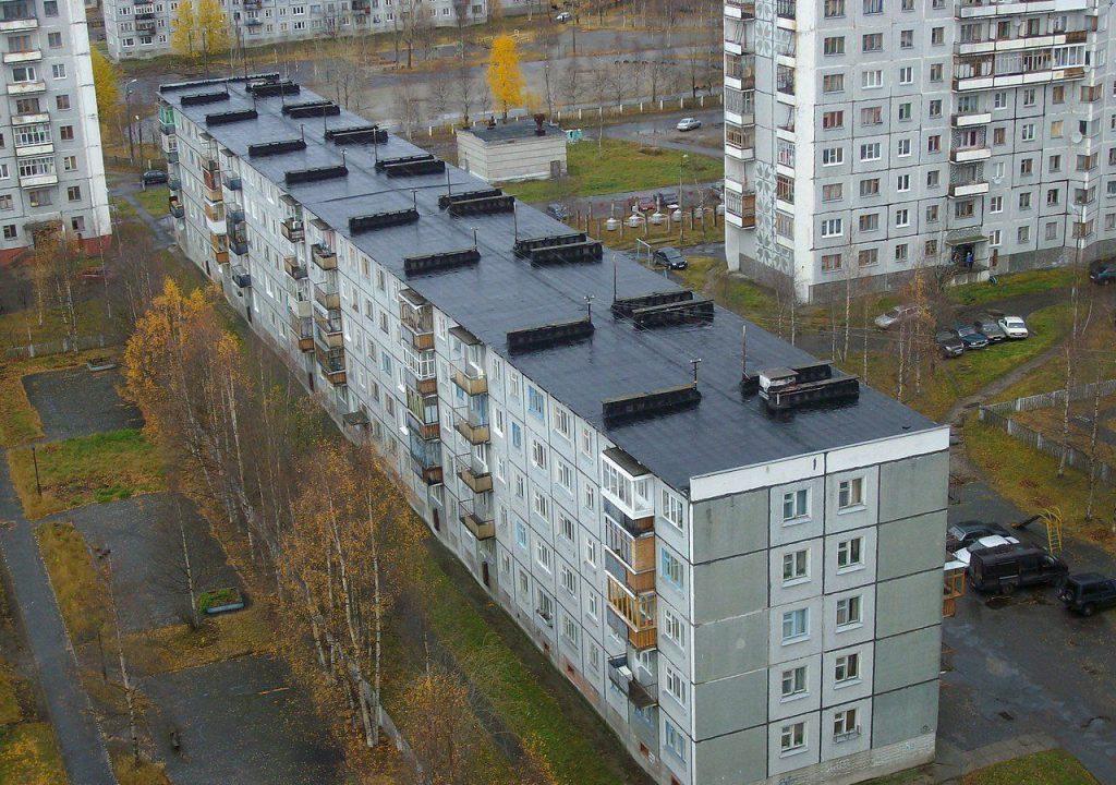 крыша панельного дома