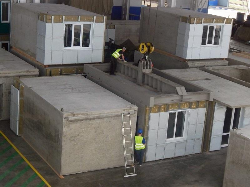 бетонные секции комнат