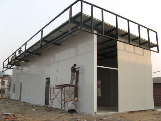 панельный дом из металла